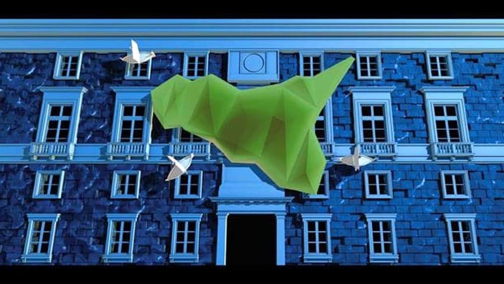 """Video mapping illumina piazza Pretoria, per la Settimana Santa """"Palermo rinasce"""""""