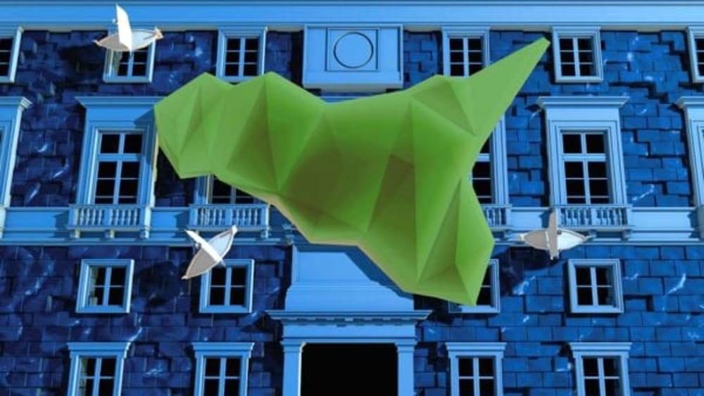 """""""Rinasce Palermo"""", il video mapping sulla Pasqua a Palazzo delle Aquile"""